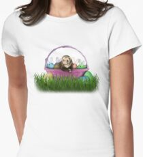 Easter Ferret Womens Fitted T-Shirt