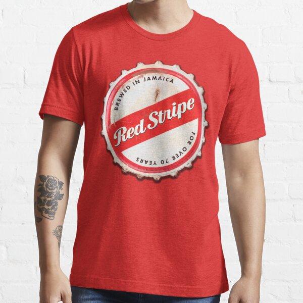 Red Stripe Bottle Cap Essential T-Shirt