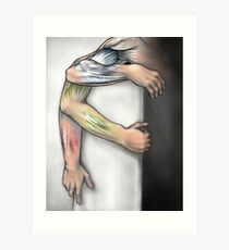 Arm Muscle Anatomy in Motion Art Print