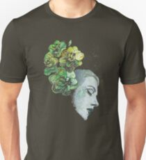 Obey Me (flower girl portrait, spray paint graffiti painting) Unisex T-Shirt