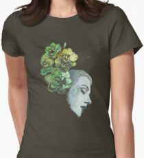 Obey Me (flower girl portrait, spray paint graffiti painting) Womens Fitted T-Shirt