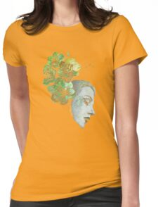 Obey Me - girl with flowers Womens Fitted T-Shirt