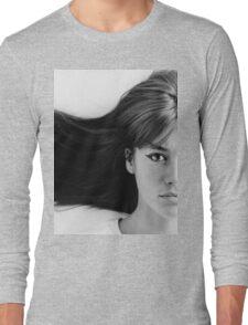 Françoise (Francoise) Hardy - History's Most Fashionable Hair Long Sleeve T-Shirt