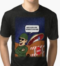 UFO Crash Tri-blend T-Shirt