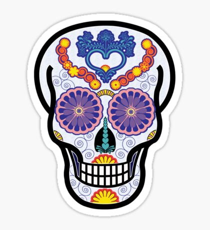 Day of the Dead Sugar Skull Sticker