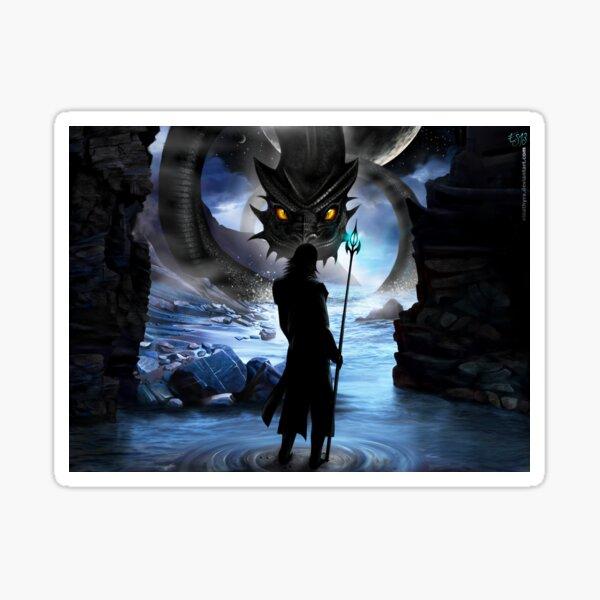 Loki And Jormungandr - Fantasy Original Art Design Gift Idea For Norse Mythology Myths God Gods North Germanic Midgard Serpent Vikings Fans Lovers Enthusiasts Sticker