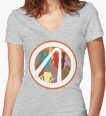 Borderlands Character Design Women's Fitted V-Neck T-Shirt
