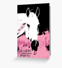 Comical Horse Greeting Card