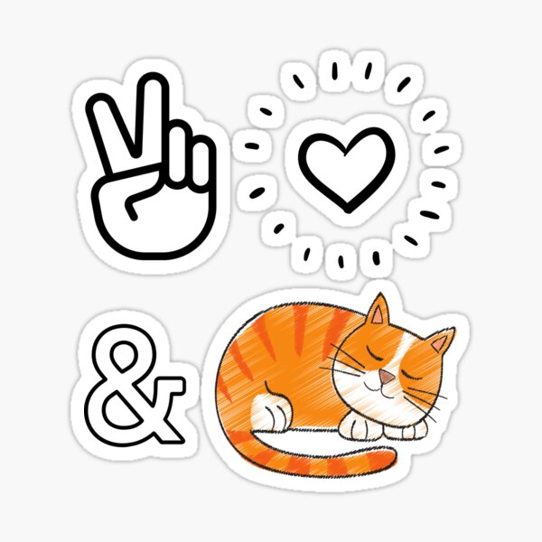 Peace, love and cats Sticker