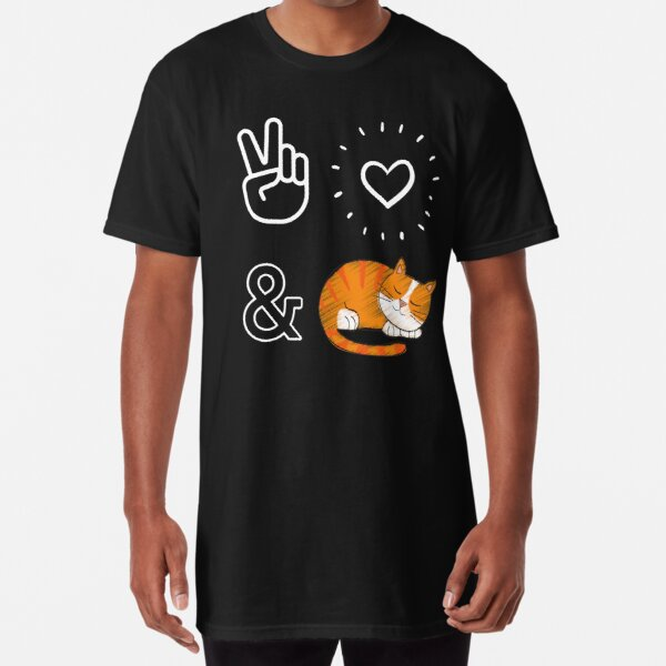 Peace, love and cats Long T-Shirt