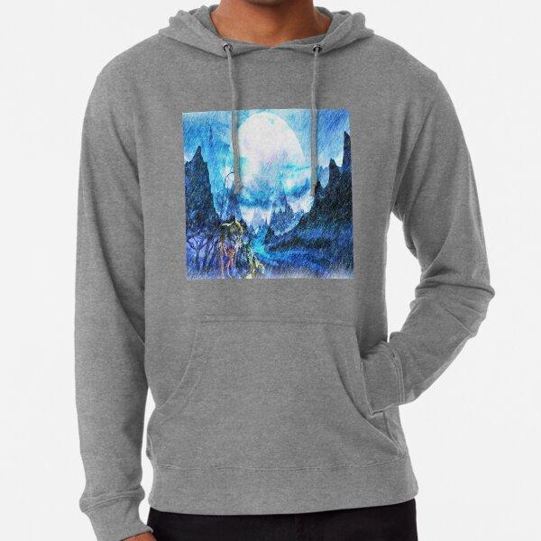 Winter moon  Lightweight Hoodie