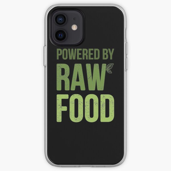 Funny Powered By Raw Food Vegan product iPhone Soft Case