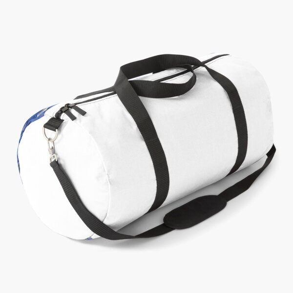 lovely beautiful blue color pattern  Duffle Bag