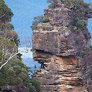The Three Sisters Blue Mountains NSW Australia [up close and personal] by Virginia  McGowan