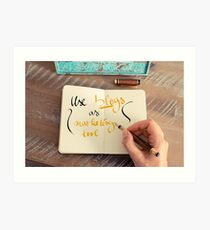 Handwritten text Use Blogs as Marketing Tools Art Print