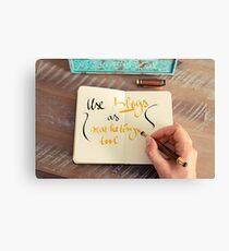 Handwritten text Use Blogs as Marketing Tools Canvas Print