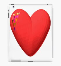 three-dimensional model of the heart valentines iPad Case/Skin