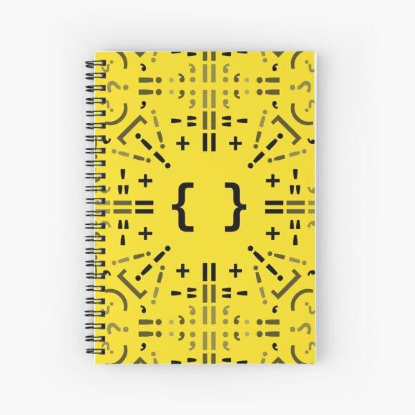 Código Mandala - Javascript - fondo amarillo Cuaderno de espiral