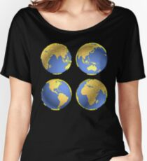 three-dimensional model of the planet earth Women's Relaxed Fit T-Shirt