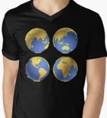 three-dimensional model of the planet earth T-Shirt