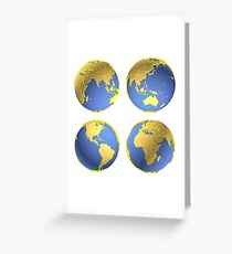 three-dimensional model of the planet earth Greeting Card