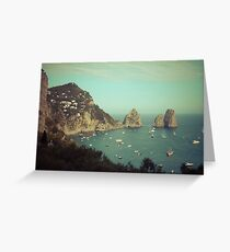 Amalphi coast, Capri, Italy 4 Greeting Card