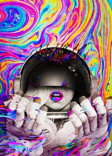 Psychedelischer Astronaut (Vintage-Effekt) von Doge21