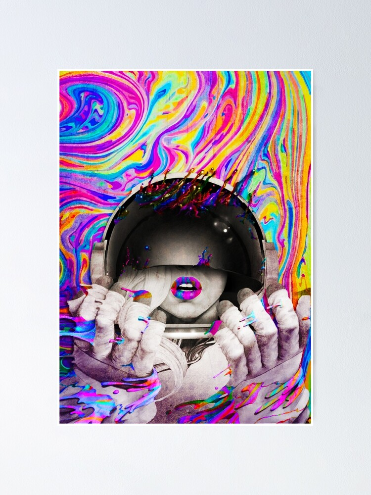 Alternate view of Psychedelic Astronaut (Vintage Effect) Poster