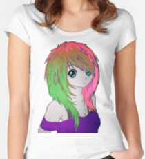 Anime Girl #1 Women's Fitted Scoop T-Shirt