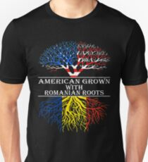 American Grown With Romanian Roots Unisex T-Shirt