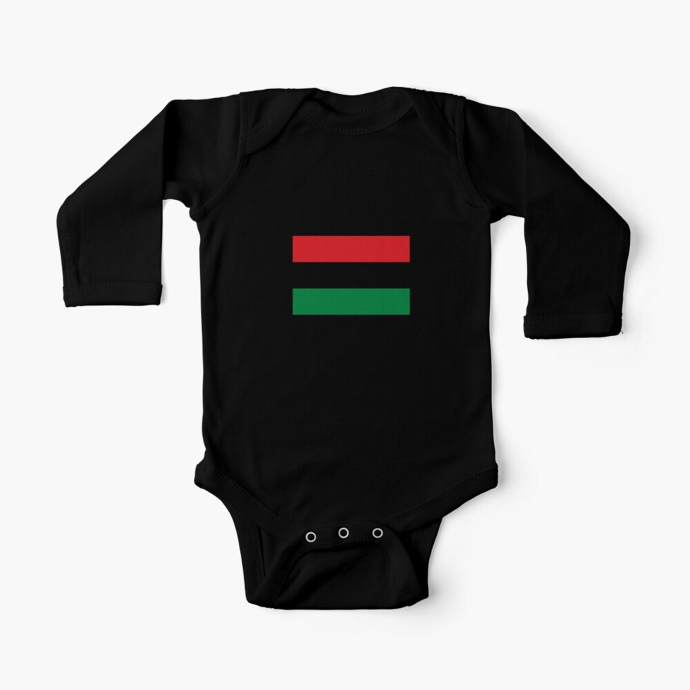 Pan African Flag T-Shirt - UNIA Flag Sticker - Afro American Flag Baby One-Piece