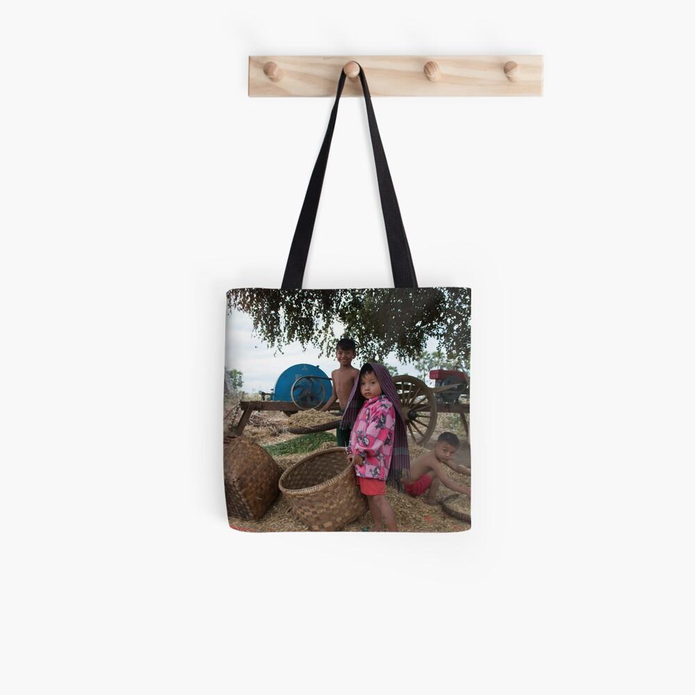 Family in Myanmar. Tote Bag