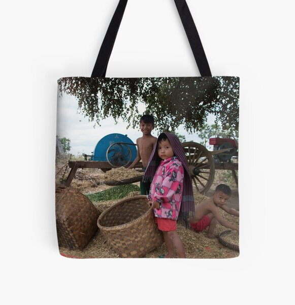 Family in Myanmar. All Over Print Tote Bag