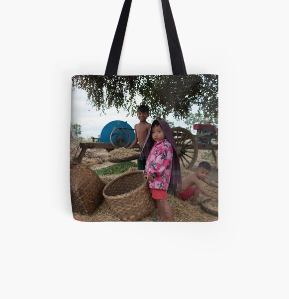 Family in Myanmar. All Over Print Tote Bag