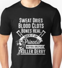 Real Girl Play Roller Derby T-Shirt