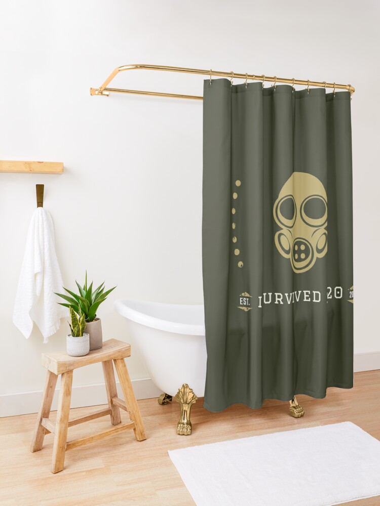Alternate view of I survived 2020 Shower Curtain