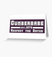 Cumberbabe <3 Benedict Cumberbatch Greeting Card