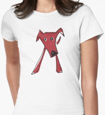 Red dog Women's Fitted T-Shirt