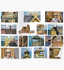 log house Russia Poster