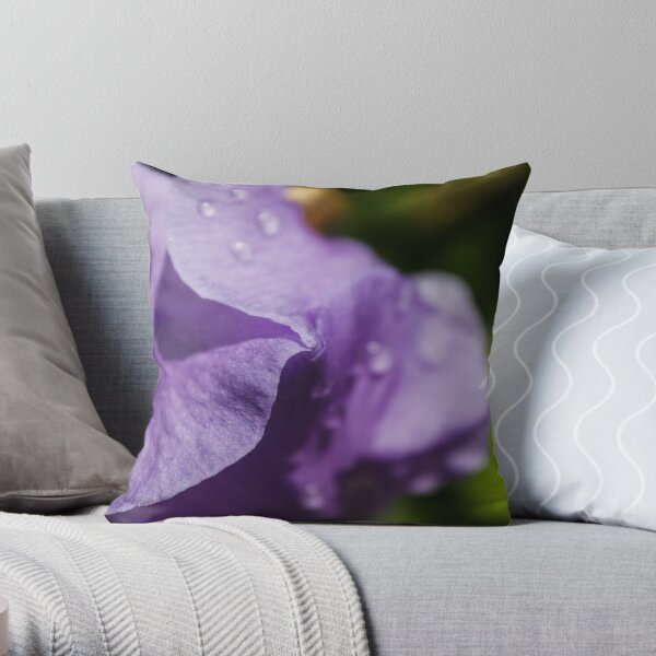 Irish flower petals close up Throw Pillow