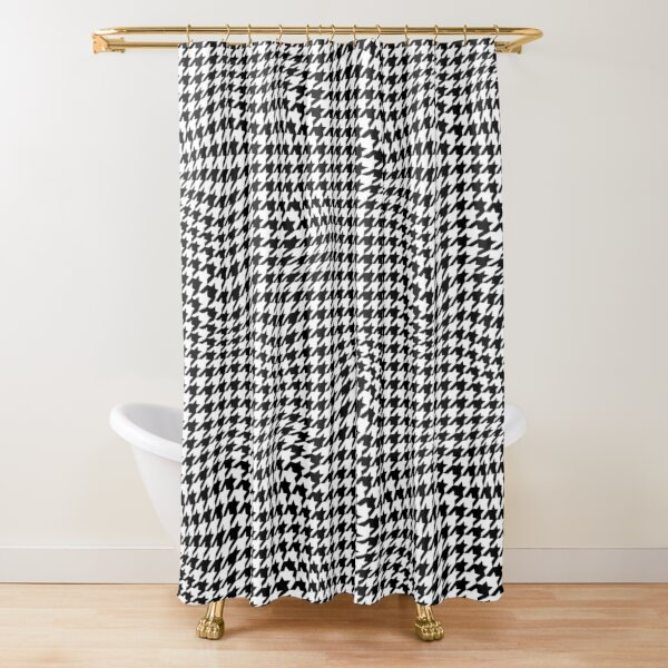 Fashion Custom Classic Houndstooth Art Waterproof Bathroom Shower Curtain 60x72