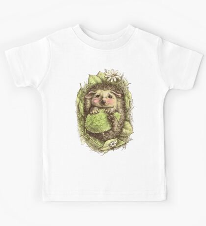 Little hedgehog colored Kids Clothes