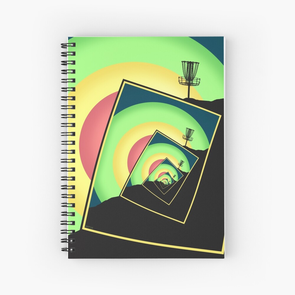 Spinning Disc Golf Baskets 5 Spiral Notebook
