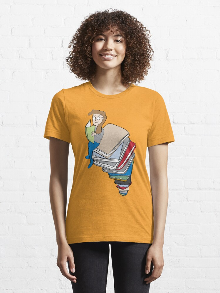 Alternate view of Tower of Books Essential T-Shirt