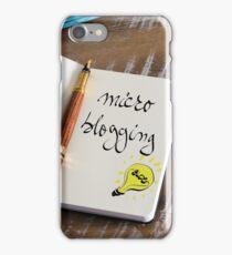 MICRO BLOGGING iPhone Case/Skin