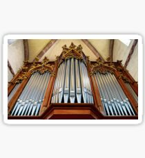 Beautiful organ in old catholic church Sainte-Foy in Selestat, France Sticker