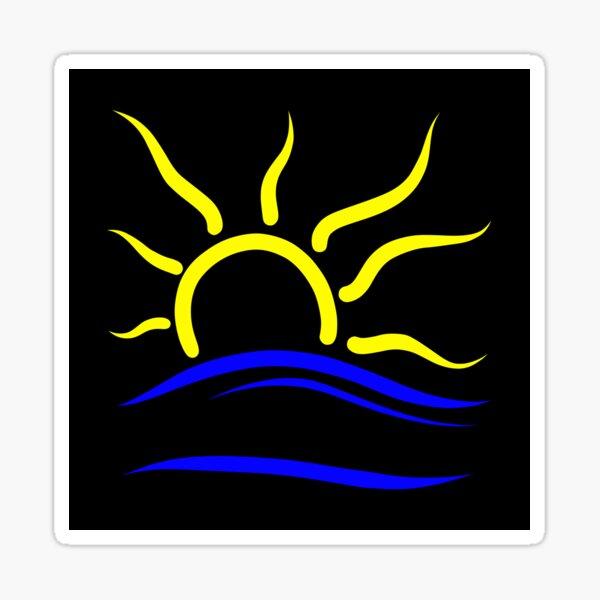 Naturist Symbol original design sticker black background Sticker