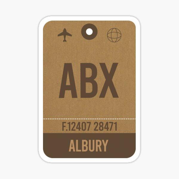 Albury Airport Code, Airport Vintage Luggage Tag Sticker