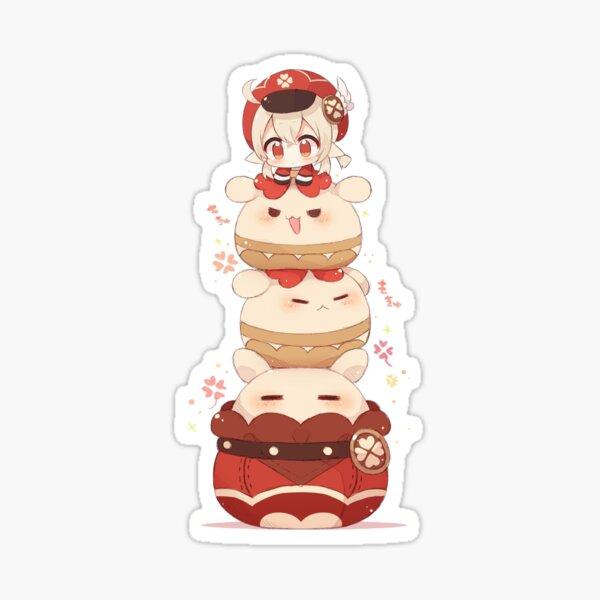 Genshin Impact Chibi Klee Kawaii Jumpy Dumpty cluster grenade Sticker