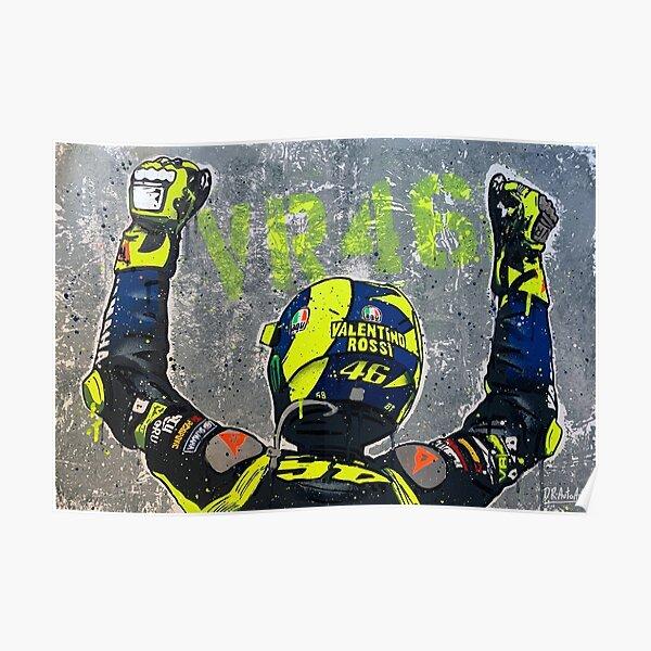 Valentino Rossi 2020 - Peinture Graffiti par DRAutoArt Poster